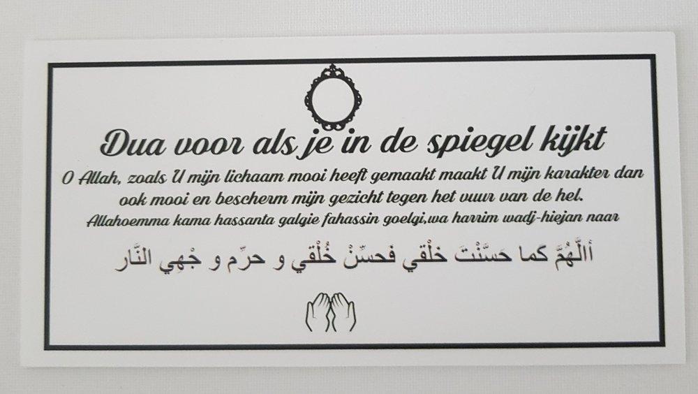 Dua bordjes noorgifts for Spiegel voor in de wc